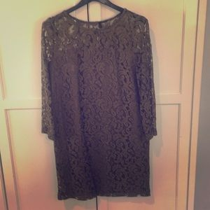 Benetton lined lace dress